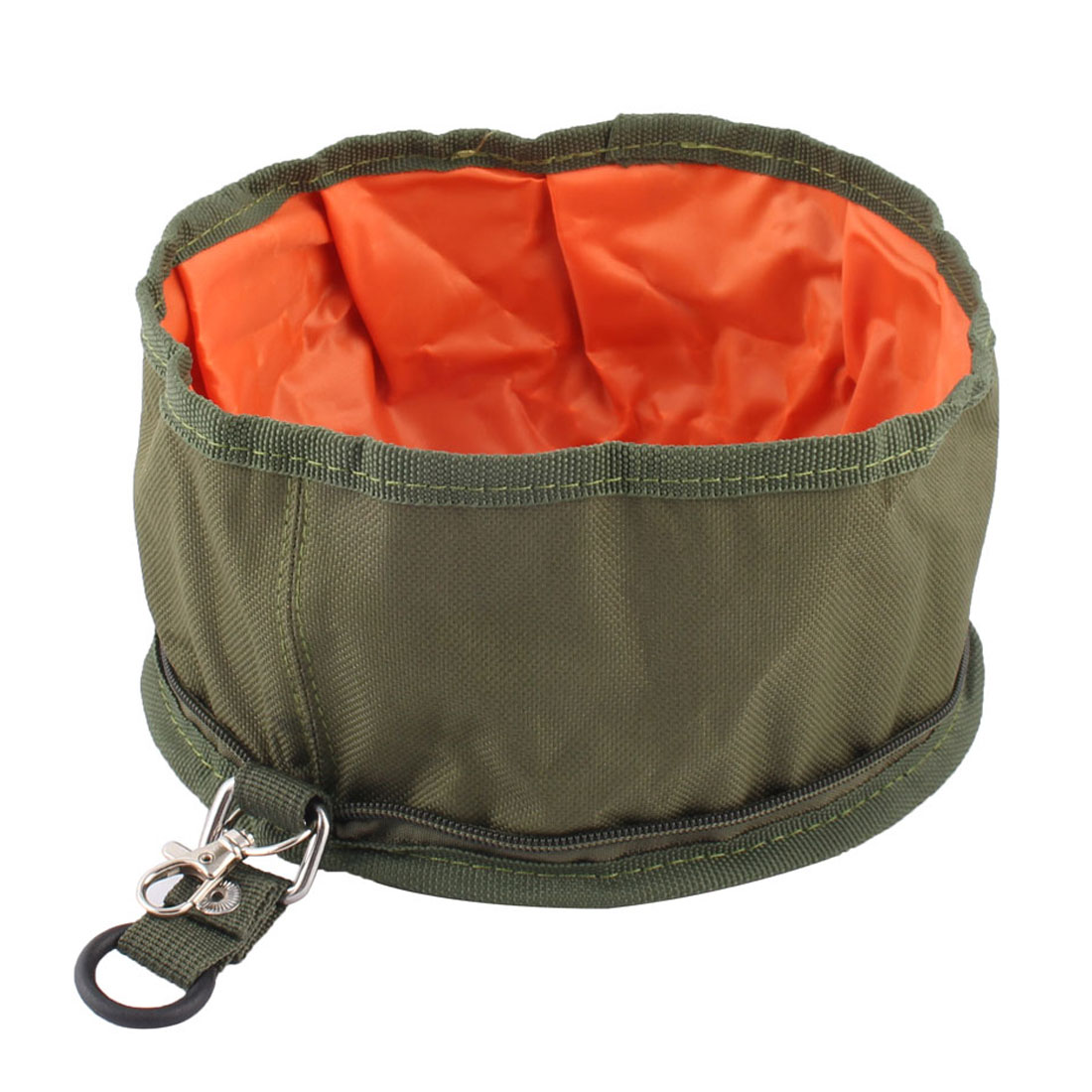 Collapsible Fabric Fold Portable Travel Dog Pet Food Water Bowl Nylon Feeder