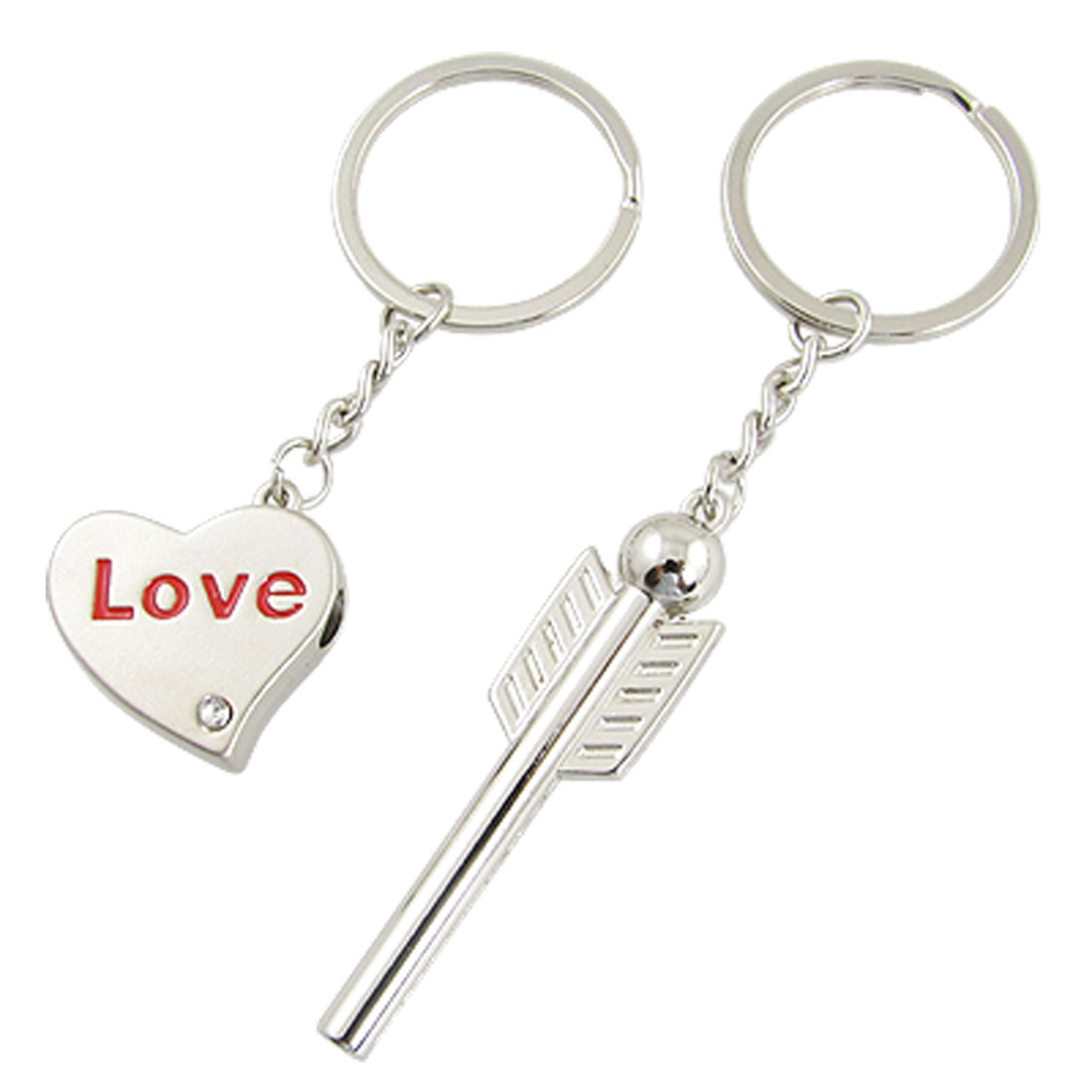 Kill a Heart w. One Arrow Alloy Lover Keychain Keyring
