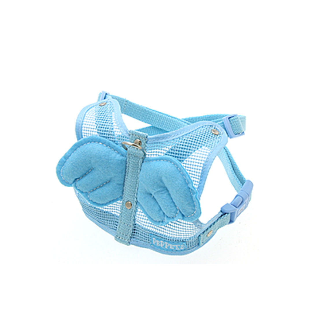 Size Medium Cat Dog Pets Harness Vest and Leash Angel Wing Blue