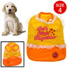 Lovely White Lace Orange Yellow Pet Puppy Dog Skirt Dress Shirts Clothes Size 4