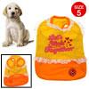 White Lace Orange Pet Puupy Dog Clothes Skirt Dress Summer Apparel Size 5