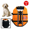 Size S Orange Reflective Pet Dog Apparel Swimming Saver Life Jacket Vest