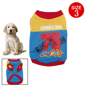 Size 3 Small Doggle Racing Shirt Dog Doggle Doggie Puppy Clothes Apparel