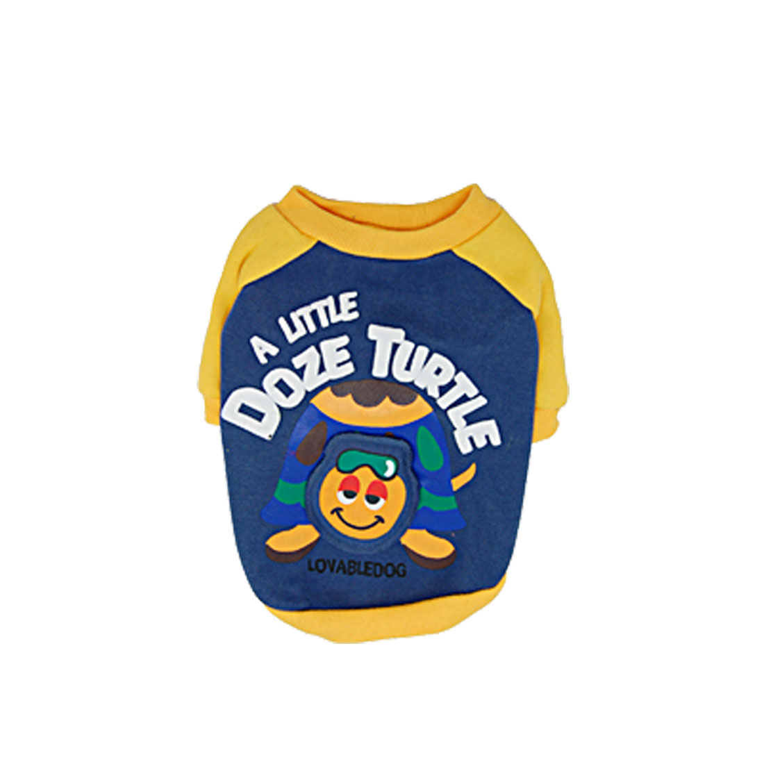 Yellow & Blue Cute Pet Puppy Dog Clothes Pullover T-shirt Apparel Size 4