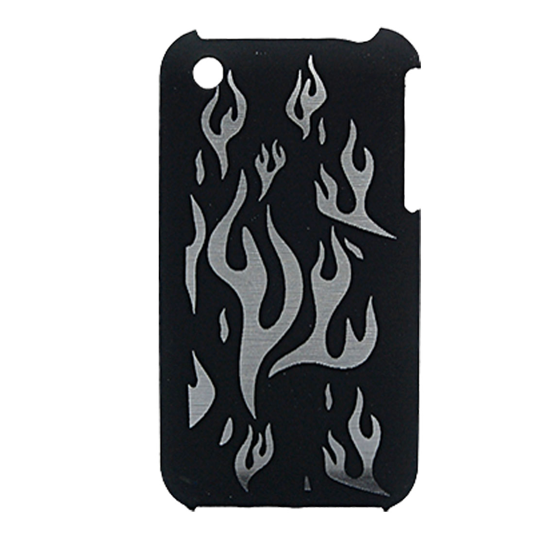 Carved Fire Style Hard Case Cover Skin for iPhone 3G / 3GS Black