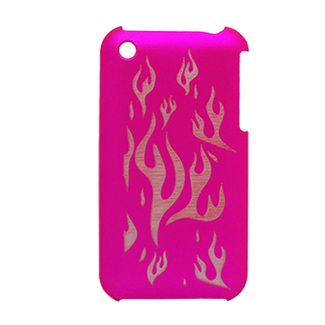 Amaranth Pink Plastic Back Case Cover for iPhone 3G