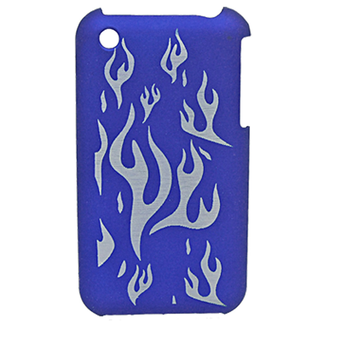 Carved Fire Blue Hard Back Skin Case Shield for iPhone 3G / 3GS