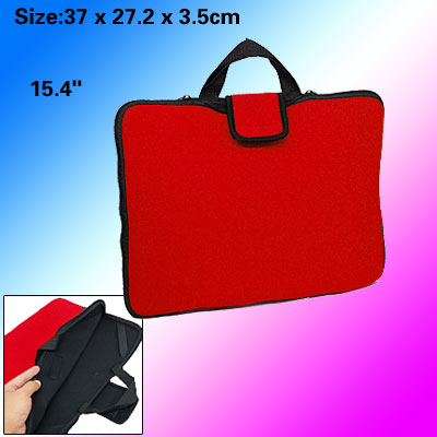 15.4 Inch Handbag Style Neoprene Notebook Carrying Pouch - Red