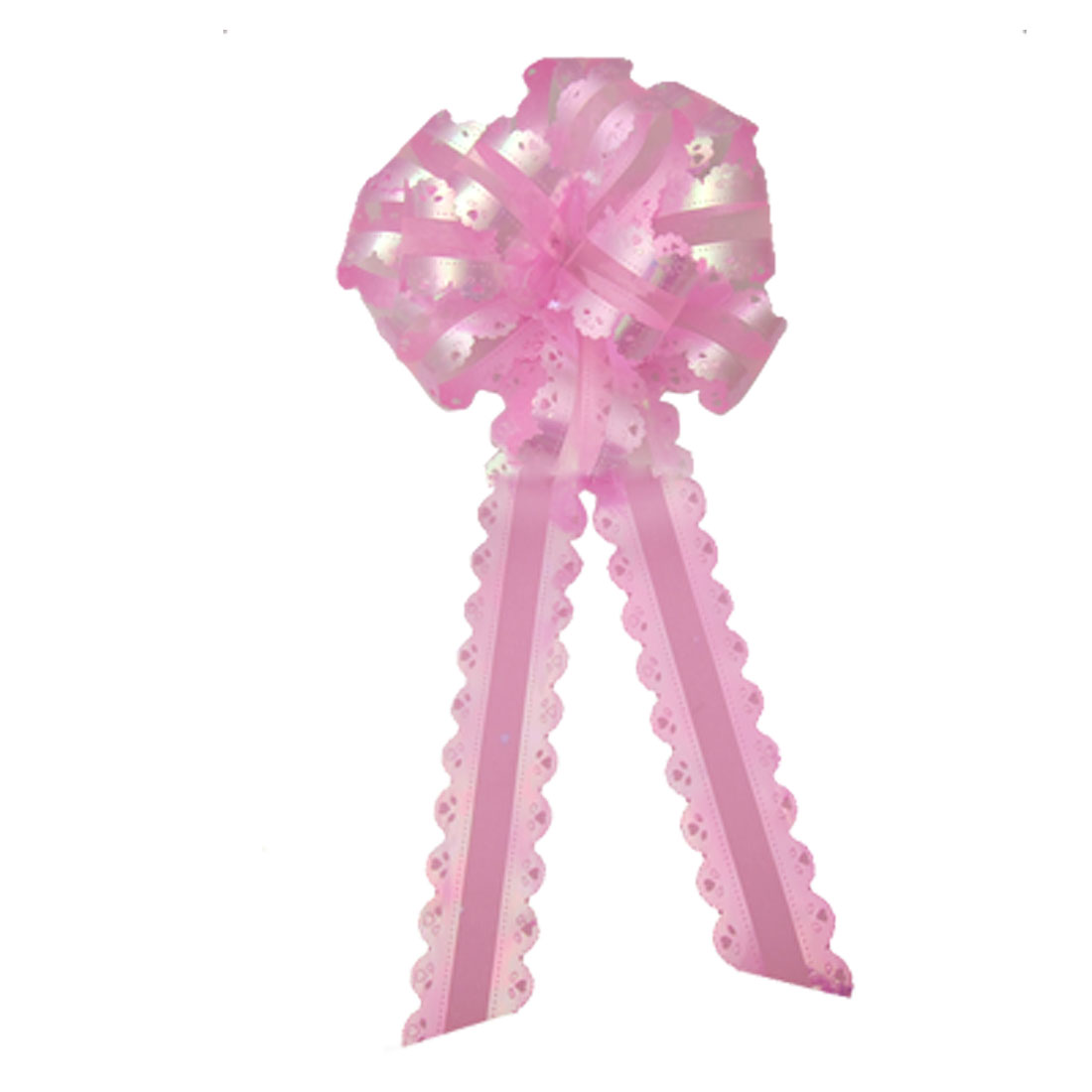 Pink Wedding Party Gift Ribbon Organza Pull French Bow