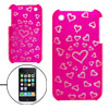 Hearts Laser Cut Plastic Bottom Back Case for Apple iPhone 3G / 3GS