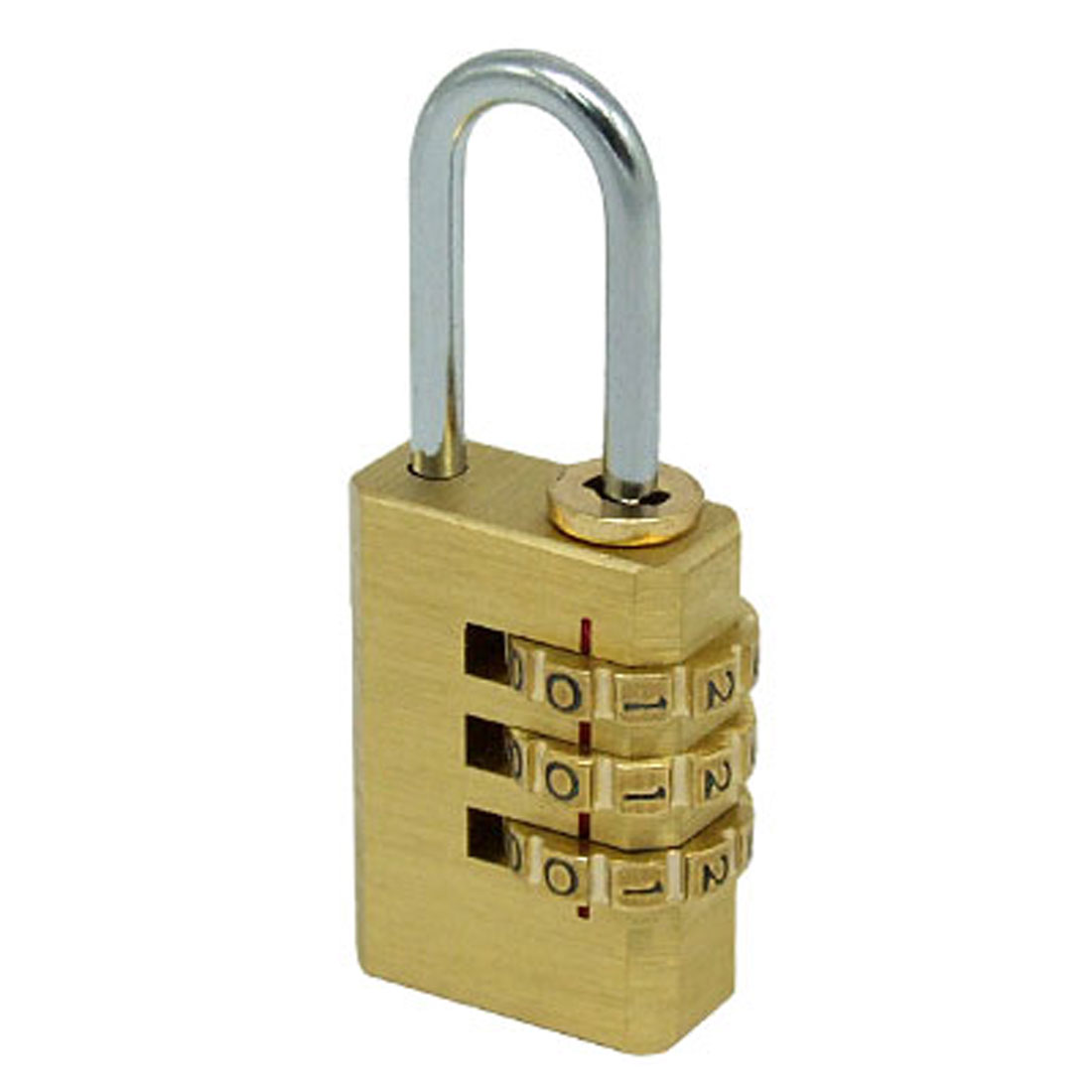3-D Brass Resettable Combination Padlock Backpack Luggage Coded Lock