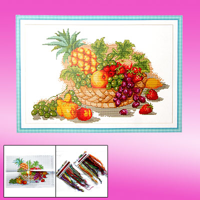 Harvest Fruit Cross Stitch Counted Cross-Stitch Kit