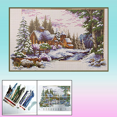Winter Scenery Counted Cross Stitch Cross-Stitch Kit