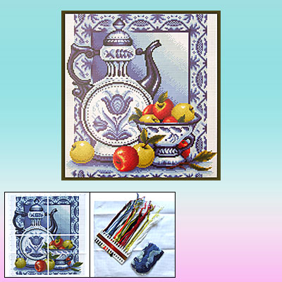 Porcelain Vessel Cross Stitch Counted Cross-Stitch Kit