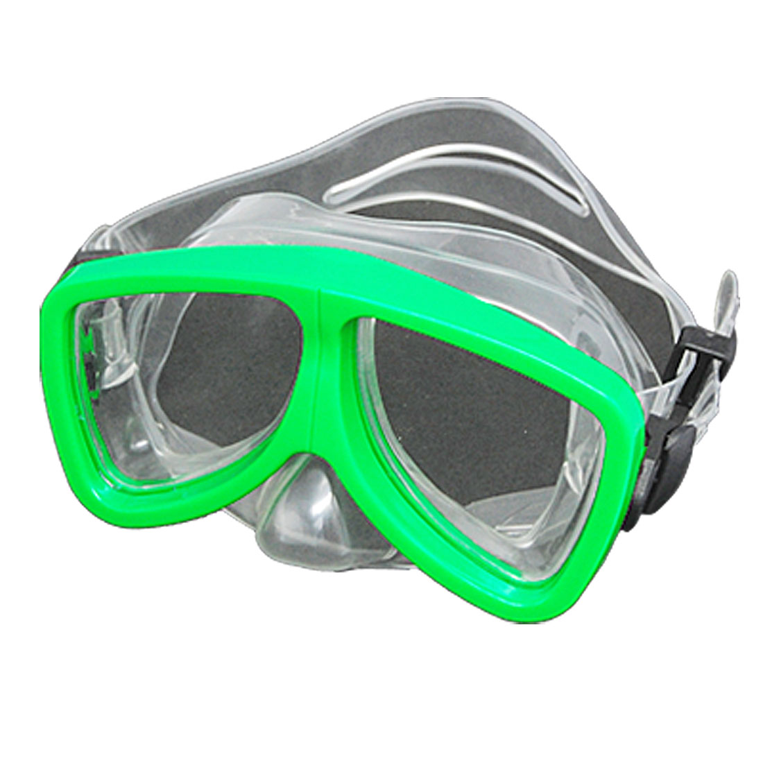 Green Children Beach Silicone Mask Swimming Mask Goggles
