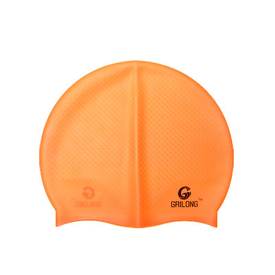 Flexible Silicone Competition Swim Cap Swimming Hat Orange