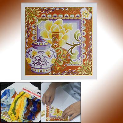 China Porcelain Pattern Counted Cross Stitch Cross-stitch Kit