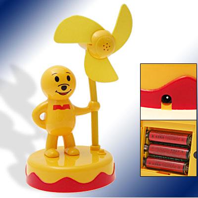Mini Yellow Cartoon Standing Guard Battery Powered Fan