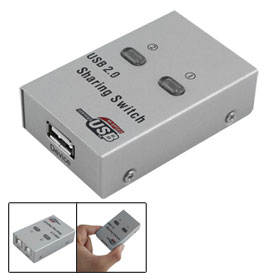 2 Port USB 2.0 Auto Sharing Switch Hub 2 PC to 1 Printer/Scanner
