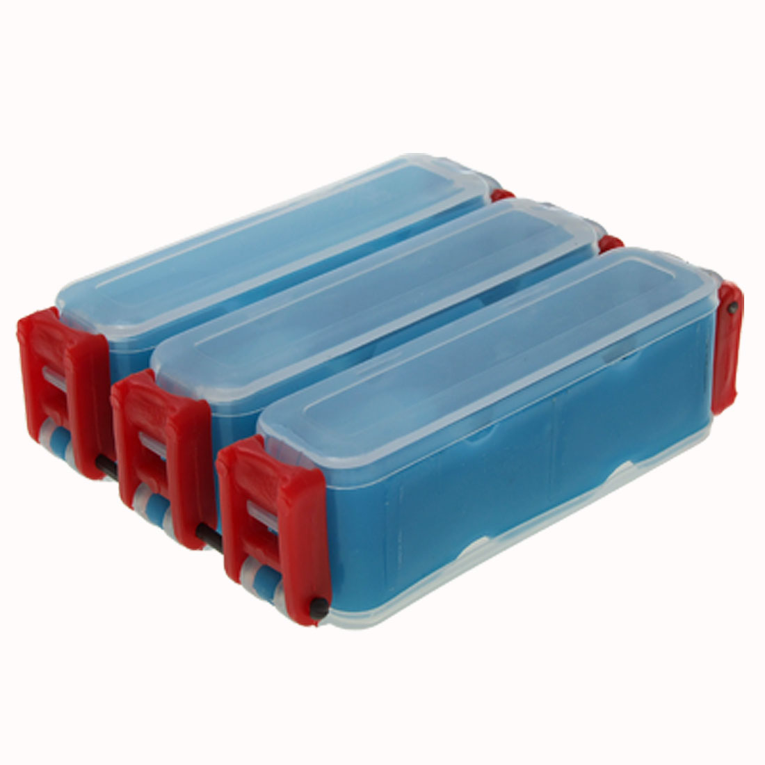 Two Side 6 Compartments Fishing Lure Bait Tackle Box