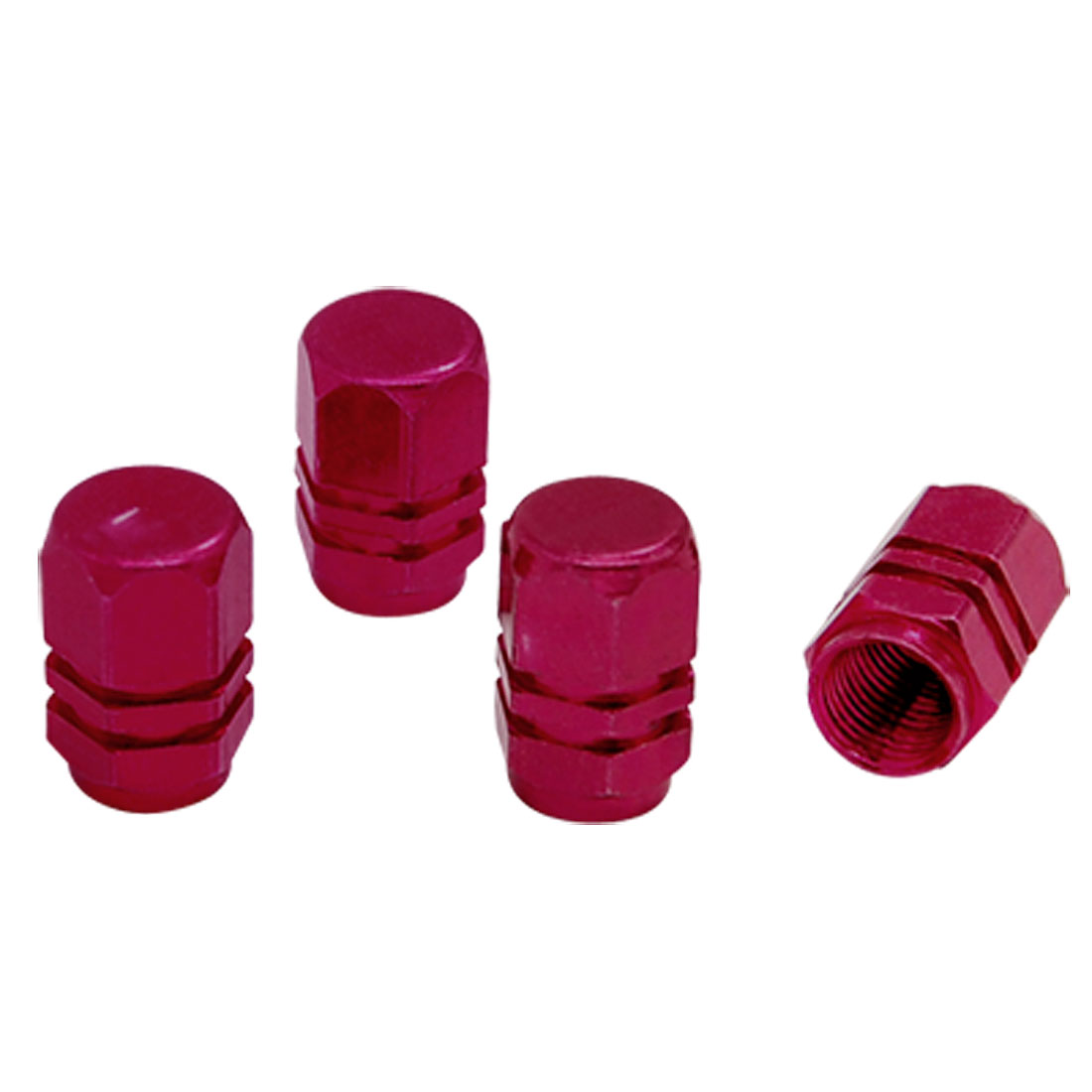 4 pcs Tire Tyre Valves Stems Caps Covers Red