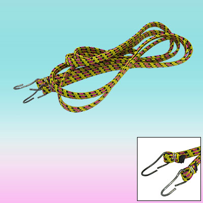 Travel Luggage Elastic Stretch Cord Bungee Rope Strap with 2 Metal Hooks