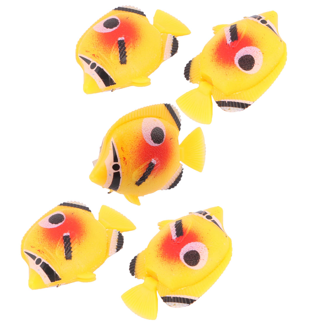5 Pieces Mini Floating Plastic Fish Aquarium Ornament