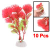 Aquarium Fish Tank Plastic Plants Decor with Red Leaves