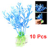 Plastic Fish Tank Aquarium Plants Decor with Anchor Base