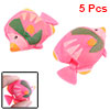 Small Realistic Plastic Floating Fish Aquarium Ornament 5 Pcs