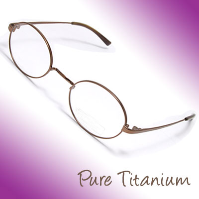 Unisex Eyewear Eyeglasses w Oval Pure Titanium Frame