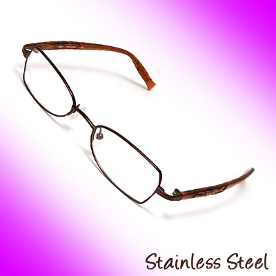 49 x 18 Stainless Steel Full-Rim Eyewear Glasses Eyeglasses Optical Frame