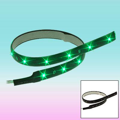 15 LED Flexible Green Light Strip 30CM for 12V Car Auto