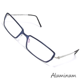 Full-Rim Aluminum Optical Eyeglasses Glasses Titanium Plated Frame 52 x 17mm