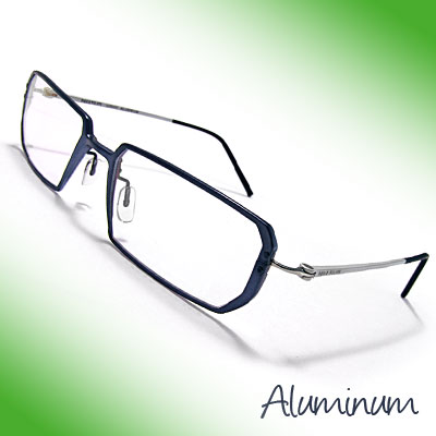 Unisex Aluminum Alloy Glasses Plain Eyewear Eyeglasses w/ Clear Lenses