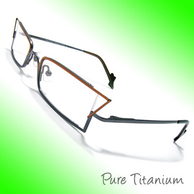 Alloy Titanium Plated Eyeglasses Frame Temple Unisex Plain Eyewear Glasses