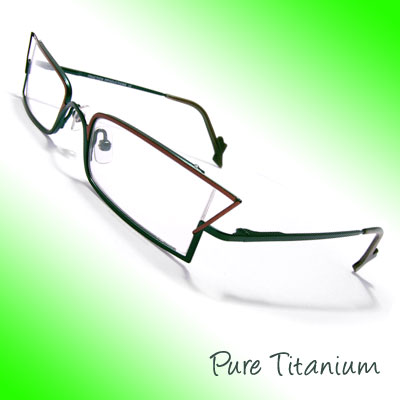 Titanium Plated Alloy Eyeglasses Frame Temple Unisex Plain Eyewear Glasses
