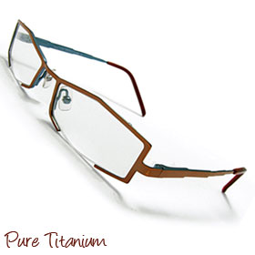 Pure Titanium Non-prescription Eyeglasses Frame Unisex Plain Eyewear Luxury Glasses