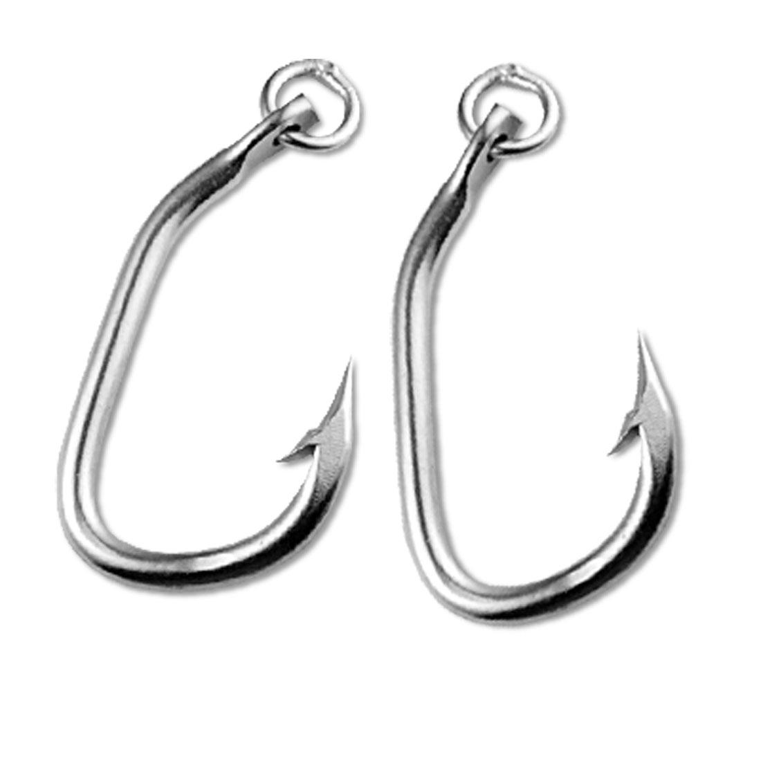 #3.6 Pair Saltwater Tuna Fishhooks Big Game Trolling Fishing Hooks