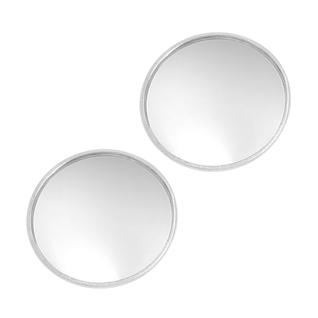 2 Pcs Round Stick-On Convex Rearview Blind Spot Mirror Set
