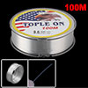 Outdoors Nylon Reel Freshwater Fishing Line Fish Spool Angling Clear 100M Length