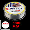 #6.0 Transparent Clear Monofilament Fish Fishing Line Dia 0.400mm 100M 32lbs