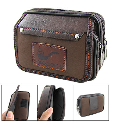 Faux Leather Waist Wallet Cell Phone and Digital Camera Bag
