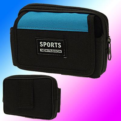 Black Nylon Waist Palm Wallet For Cell Phone / Digital Camera