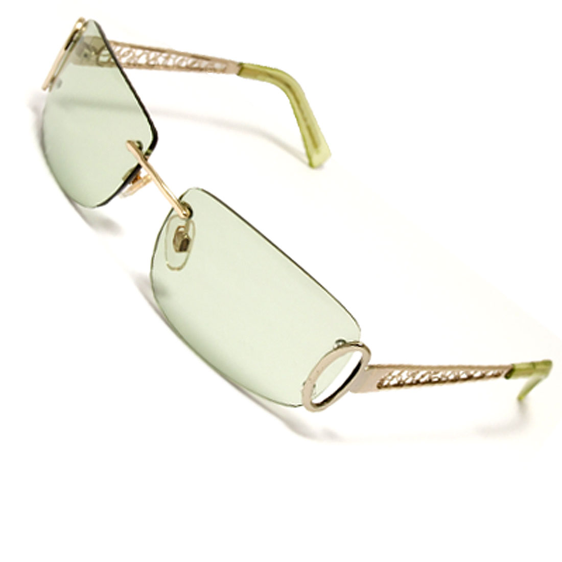 Rectangle Cyan Lens Elegant Arm Women's Leisure Glasses