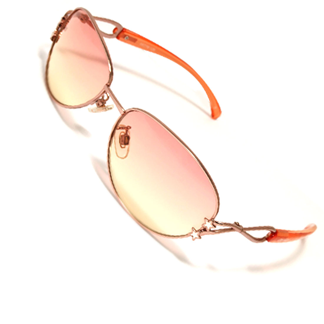 Pink Metal Frame Star Style Fashion Sunglasses