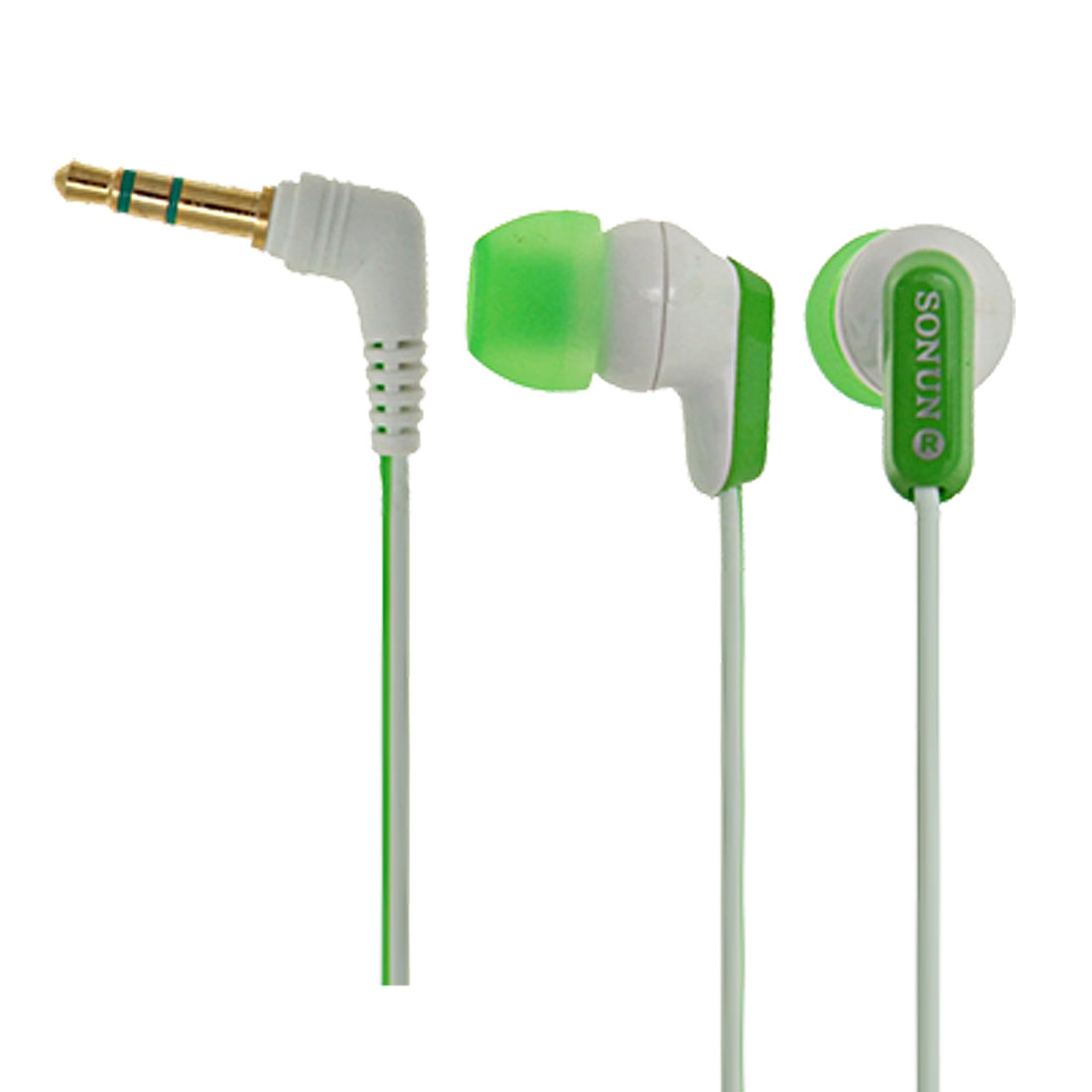Attractive Green Stylish Gold-plated 3.5mm Stereo Earphone