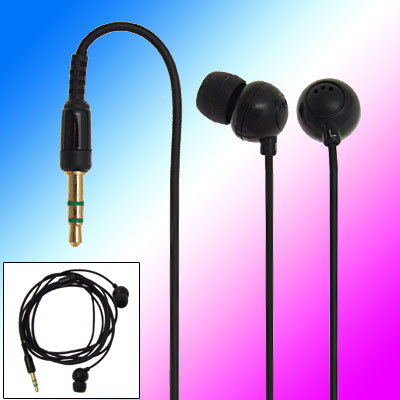 3.5mm Black Soft In-ear Stereo Earphone Headphone for MP3 Phone
