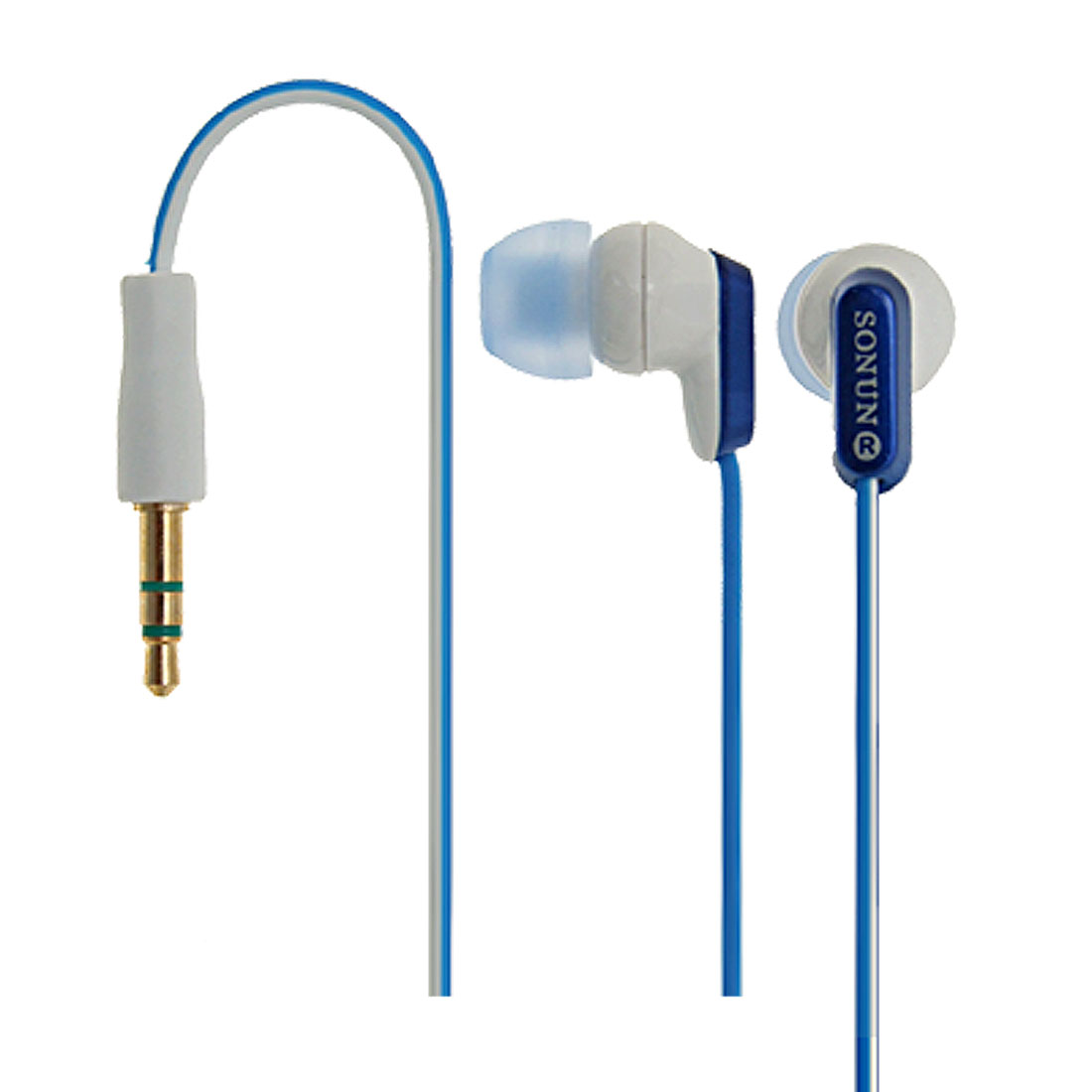Blue Attractive Fashion 3.5mm Stereo Earphone Headphone