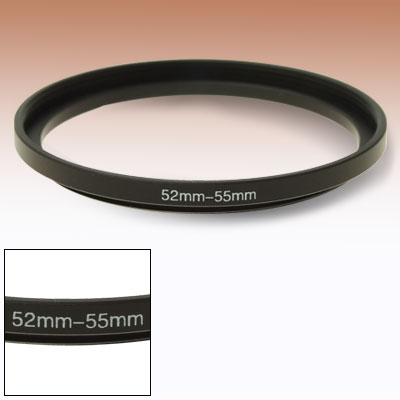 52mm-55mm Camera Lens Filter Step Up Ring Adapter